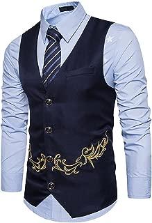 MAGE MALE Men's Vest Formal Vest V-Neck Sleeveless Business Suit Dress Waistcoat