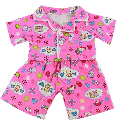 Bear Clothes Cuddles & Friends Pink Bär Set pink Gr. 40cm - niedlichen rosa Pyjama Teddybär Outfits Kleidung für 40cm Teddybären und Build-a-Bear