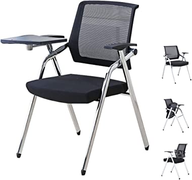 Folding Training Chairs Company Conference Chair with Writing Boards Conference Room Chair Staff Learning Chairs with Armrest