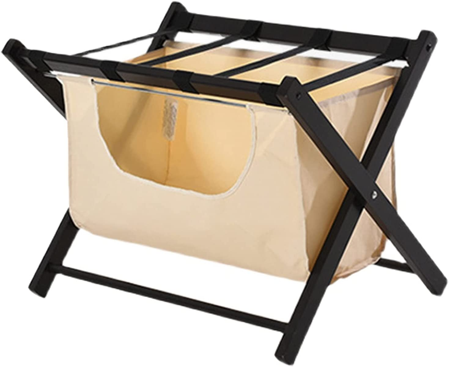ZXFF Wooden Cheap mail order shopping Folding Luggage Rack Webbin with Nylon Max 42% OFF Stand