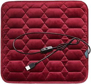 MeiLiu Cojín de Asiento calefactable, Almohadilla eléctrica USB de 5 V, Almohadilla térmica Antideslizante para Silla, Calentador Seguro y Lavable, para Coche, Oficina, hogar (45 x 45 cm)