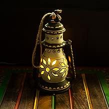 ExclusiveLane 8 Inch Terracotta Balcony Hanging Lamp Cum Living Room Decorative Table Lantern (Cream)