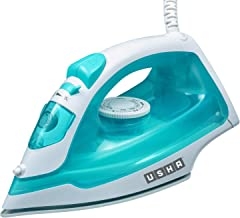 USHA Mistello Steam Iron 1300 W with Easy-Glide Non-Stick Soleplate, Large 250 ml Water Tank, 18 g/min Powerful Steam Out...