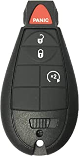Replacement Remote Keyless Fob Key Case ( Shell ) For Chrysler Town & Country Dodge Durango Grand Caravan Journey Ram 1500 2500 3500 Jeep Grand Cherokee Ram 1500 2500 3500 IYZC01C GQ4-53T M3N5WY783X