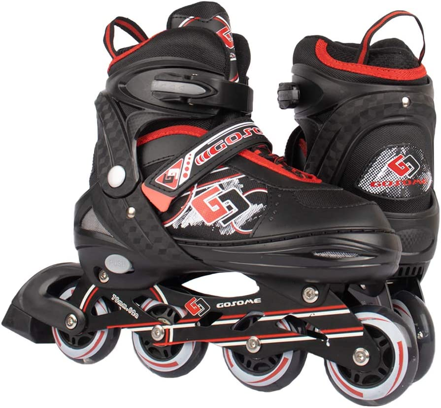 Protective Gear Included | Great fit for Casual and Beginner Skaters Boys and Girls Upgraded Roller Skates for Kids VyperX Adjustable Inline Skates with Illuminating Wheels
