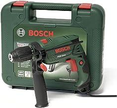 Taladro de percusión PSB Easy Bosch, 550 W, portabrocas autoajustado, mango Grip, caja Bosch