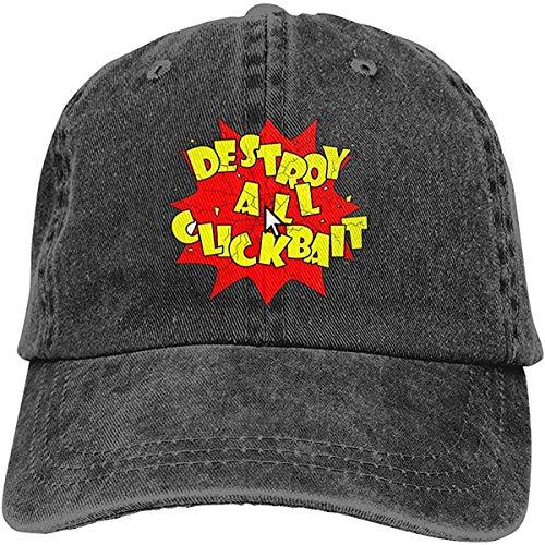 Bandanas Destruir todos Clickbait ajustable para deportes de béisbol y golf, sombrero unisex