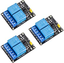 MCIGICM 2 Channel DC 5V Relay Module for Arduino UNO R3 DSP ARM PIC AVR STM32 Raspberry Pi with Optocoupler Low Level Trig...