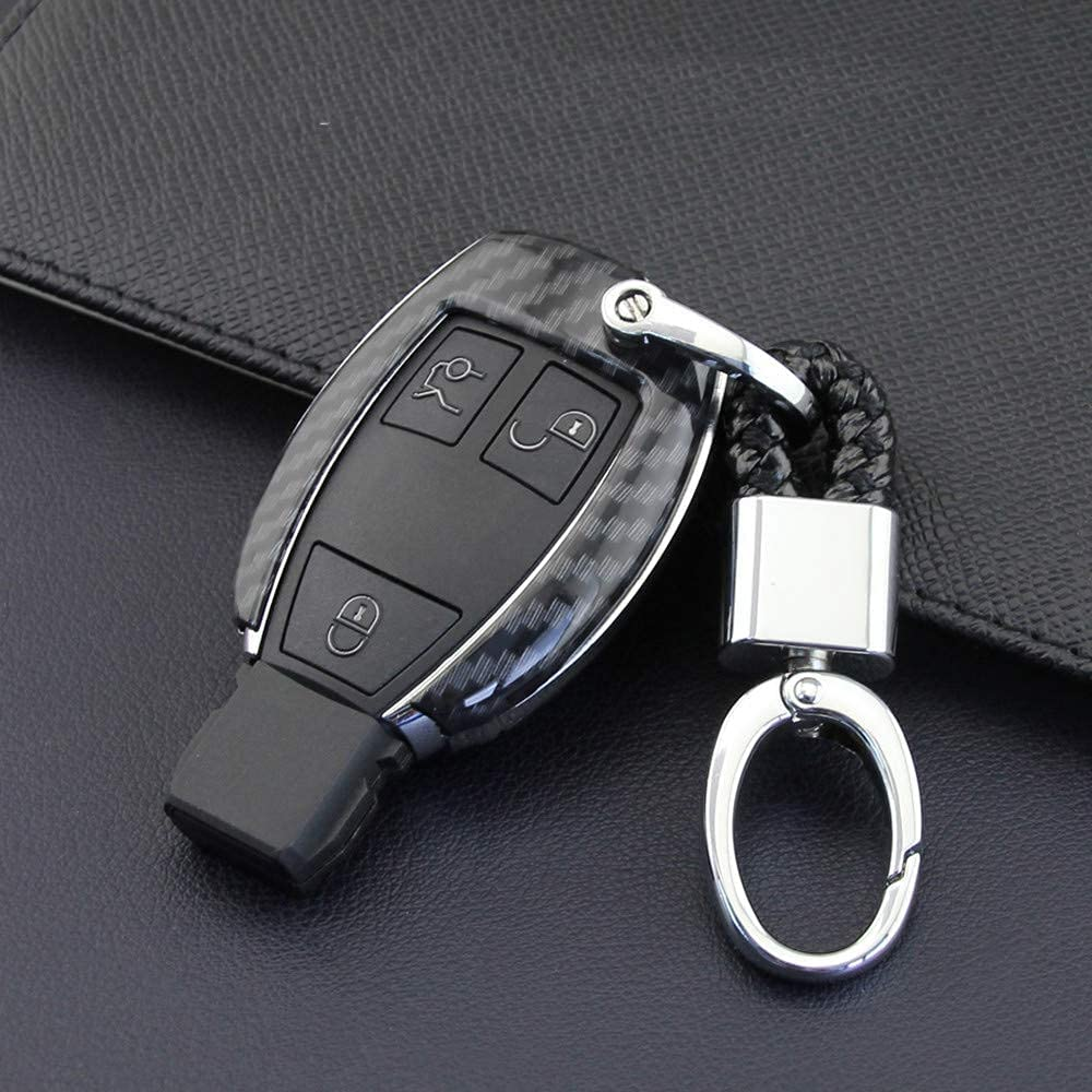 Carbon Fiber Hard Car Store Key Fob ,for MercedesBe Cover Case Max 47% OFF Chain
