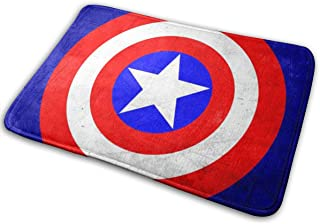 Duwamesva Doormat Soft Carpet Entrance Mat Stylish Captain America Design for Patio, Front Door, Bathroom, Balcony