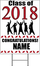 2018 GRADUATION RED YARD SIGN (1 EACH) by Partypro