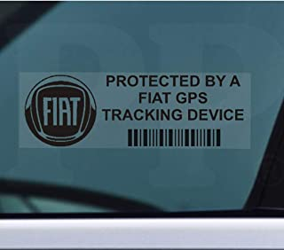 Platinum Place 5 x PPFIATGPSBLK Fensteraufkleber GPS Tracking Device Security Fensteraufkleber 87 x 30 mm Auto Van Alarm Tracker