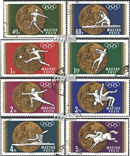 Prophila Collection Ungarn 2477A-2484A (kompl.Ausg.) 1969 Medaillengewinner bei Olympia (Briefmarken für Sammler) Olympische Spiele