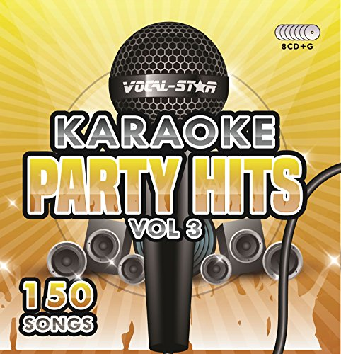 Karaoke Party Hits Vol 3 CDG CD+G Disc Set - 150 Songs on 8 Discs Including The Best Ever Karaoke Tracks Of All Time (Ed Sheeran ,Taylor Swift, Beatles, Frank Sinatra, One Direction & much more
