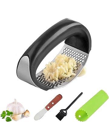prensa ajos trituradora exprimidor de ajo seguro y saludable f/ácil de limpiar plata-1 cortador de ajo prensa de ajo acero inoxidable prensa de ajo cortador prensa ajos