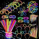 Kimimara Barras Luminosas, Luminosos con Conectores para Pulseras y Pelotas, Iluminación para Juguetes, Ideal para Fiestas en la Oscuridad ,de 20 Centímetros de Largo, para Cumpleaños Halloween