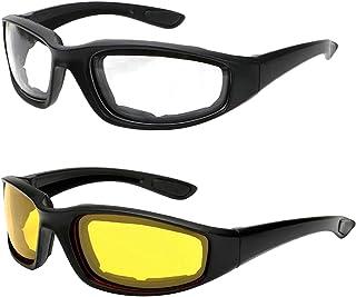 Óculos de bicicleta flexível Homyl com lentes transparentes e acolchoamento de borracha, proteção UV, à prova de vento, pa...