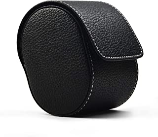 Oirlv Luxury Leather Watch Storage Box Travel Single Watch Case Jewelry Gift Box for Christmas Anniversary Birthday(Black)