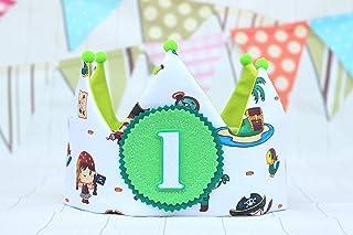 Pirata compleanno pirata decorazione corona di corone di compleanno per neonati e bambini