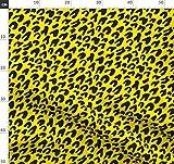 Tiger, Leopard, Animal Print, Gelb, Schwarz, Modern Stoffe