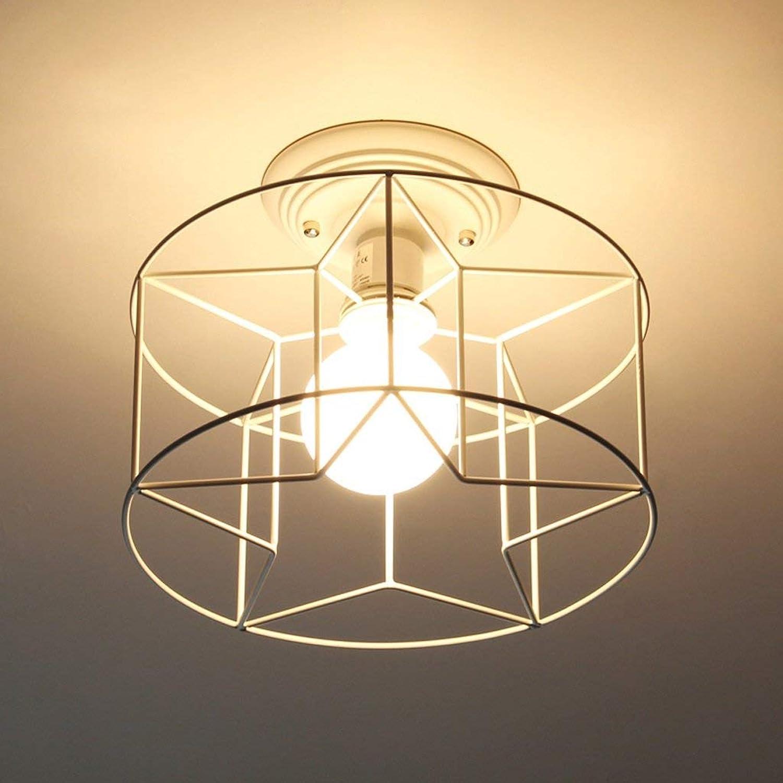 Zhang Yan ZYY Fünfzackiger Stern Deckenleuchte, Moderne Einfachheit Eingangsbeleuchtung Flur Flur Flur Ganglichter Balkonlampen E27 Deckenleuchte (Farbe  Wei)