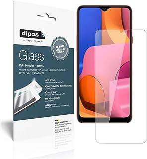 dipos I 9H pansarfilm kompatibel med Samsung Galaxy A20s skyddsfolie displayskyddsfolie (mindre än glaset eftersom detta ä...