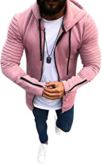 RingBong Mens Bussiness Plus Velvet Thicken Warm Full-Zip Relaxed-Fit Outwear Down Coat