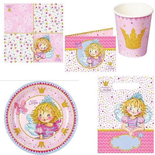 Spiegelburg Prinzessin Lillifee 5er Set 13628 13629 13630 13631 13632 Partyteller + Partybecher + Einladungskarten + Partytüten + Servietten