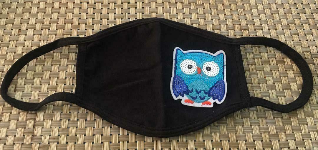 Sales Owl Night Little Blue Bird Superlatite Sequin Embroidered Design F Patch