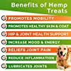 GOODGROWLIES Hemp Hip & Joint Supplement for Dogs Glucosamine, Chondroitin, MSM, Turmeric, Hemp Seed Oil & Hemp Protein for Joint Pain Relief & Mobility 120 Soft Chews Bacon Flavor #1