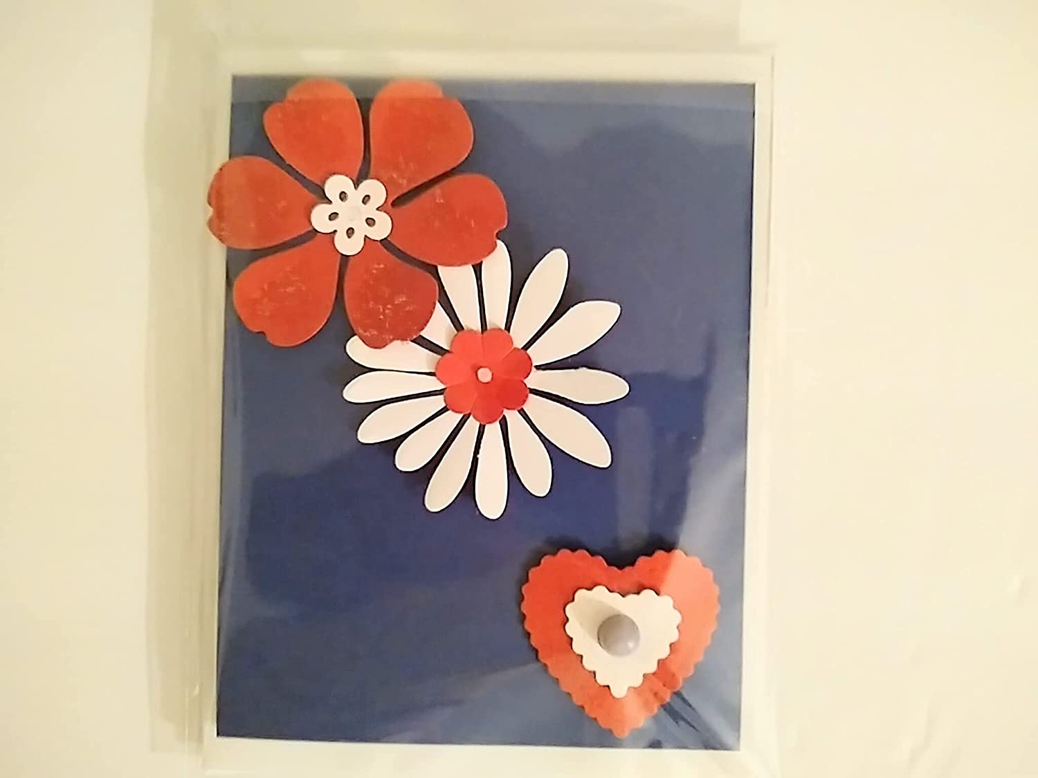 Red white and Luxury blue blank card Nippon regular agency cards shays_creations any occasion