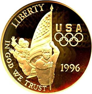 1996 W $5 Modern Commems - Gold Flag Five Dollar PR70 NGC DCAM