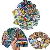 Zhybac Poke Card Trading Card 100 Tarjetas GX Completas, 100 Tarjetas, Divertidas Tarjetas Flash,Tarjetas GX Tag Team,Carta rara, Carta de batalla