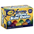 Crayola Washable Kids Paint, Classic Colors, 6 Count, Painting Supplies, Gift… by Crayola