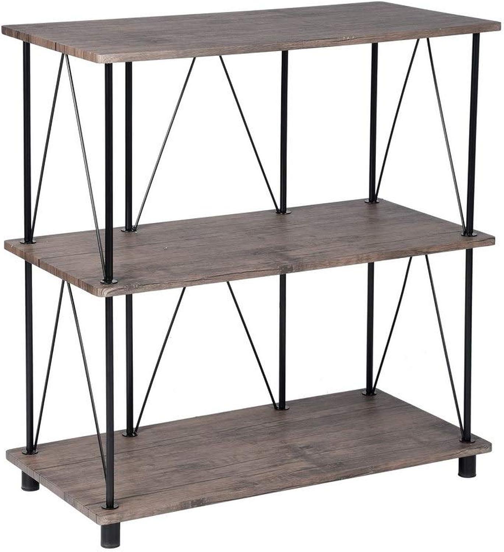 Gimify 2-Shelf Storage Bookcase Multipurpose, MDF Metal 80x40x86.5cm