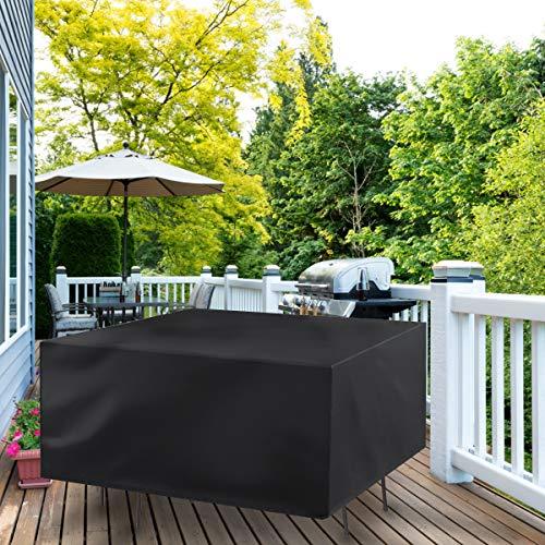 Gartenmöbel-Abdeckung, Wasserdicht Abdeckung für Gartentisch, 420D Robustes Oxford-Gewebe Rattan Winddicht UV-Schutz 170x94x70cm