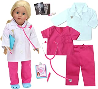 Sophia's 18 Inch Doll Doctor Outfit and Medical Accessories 10 Piece Doctor or Doll Nurse Set with Outfit and Accessories ...