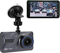 XIAOJIE Driving Recorder Hd 1080P, 4-Inch Dual Lens IPS Screen Car Dvr Dashboard Camera, 170°Wide Angle Double Recording, Loop Recording