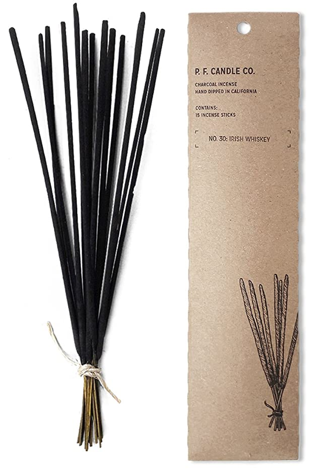 スキーヒゲクジラコンセンサスp.f. Candle Co。No。30?: Irish Whiskey Incense (2?- Pack)