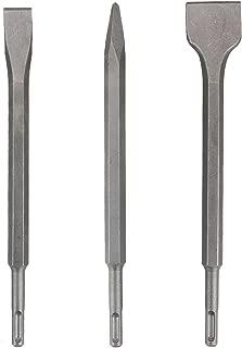 Zilong SDS-Plus Chisel Set, Rotary Hammer SDS Bits Set - 3 PCS Including Point Chisel, Flat Chisel, Cranked Chisels with Carry Case