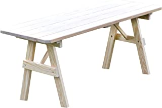 Pressure Treated Pine Unfinished 5 Foot Picnic Table ONLY