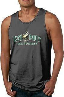 CYSKA Men's Graphic Cal Poly Horse Logo Top Black