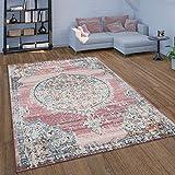alfombra vintage rosa