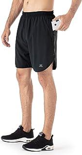 شورت رجالي MAPILEKT رياضي للجري مقاس 17.78 سم مع جيوب مبطنة شبكية بسحاب