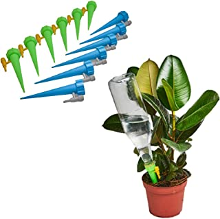 VGdrip Plant Self Watering Spikes [12 Pack] Adjustable Valve Contol Slow Release Control Valve Switch for Outdoor Indoor P...