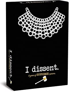 I Dissent. Board Game - A Game of Supreme Opinions Ruth Bader Ginsberg RBG