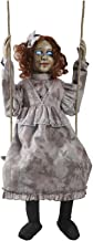 HALLOWEEN ANIMATED SWINGING DECREPIT DOLL GIRL PROP DECORATION -Doll is 30 inches tall