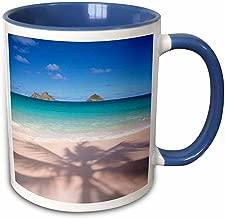 مج 3dRose 89735_6 لشاطئ لانيكاي، كيلوا، أوهاوي، هاواي، الولايات المتحدة الأمريكية- الولايات المتحدة 12 DPB1580-Douglas Peebles بلونين 11 oz أزرق/أبيض