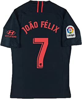 QKMKO New Atletico Madrid Felix Jersey # 7 2019-2020 Away Soccer Jersey Black