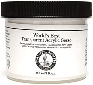 Daniel Smith 284060016 Acrylic Gesso 4oz,Transparent